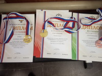 Грамоты Бориса Хачатурова с Первенства России по тяжелой атлетике среди юниоров и юниорок до 23 лет 2019 года